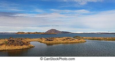 myvatn, -, see, island