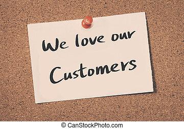 náš, my, láska, zákazník