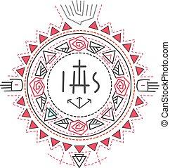 náboenský symbol, komponování