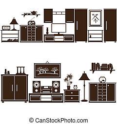 nábytek, sets, eps10