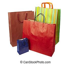 nákupní taška, konzumerismus, prodávat v malém