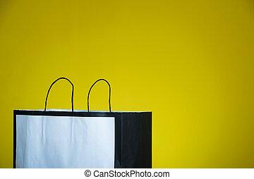 nákupní taška, text dělat mezery, hloupý zmást