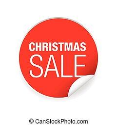 nálepka, jmenovka, vánoce, prodej, charakterizovat