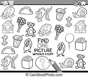 nález, svobodný, malba, hra, karikatura