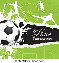 námět, fotbal koule
