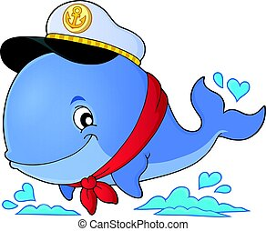 námořník, velryba, námět, podoba, 1