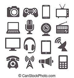 nápad, komunikace, ikona
