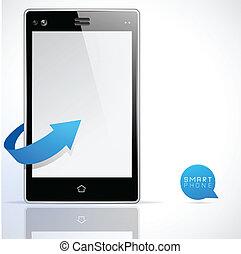 nápad, smartphone, moderní