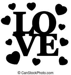 nápis, love.
