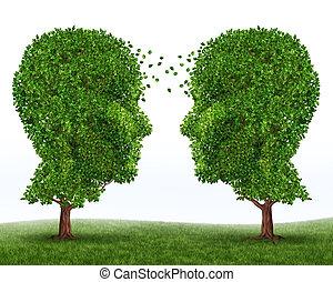 nárůst, a, komunikace