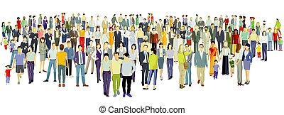 národ, grafické pozadí, skupina, velký, neposkvrněný