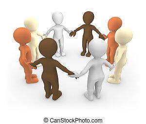 národ., mír, jednota, malý, concept., 3