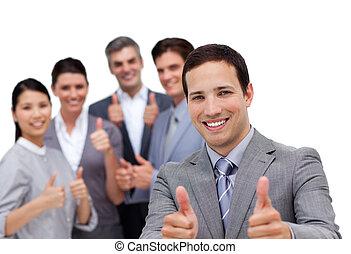 národ, palec, úspěšný, povolání, up