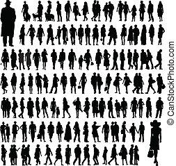 národ, silhouettes