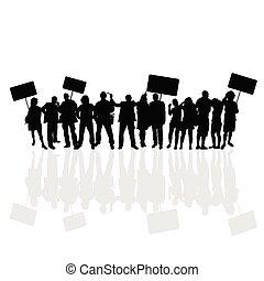 národ, vektor, silueta, ilustrace