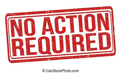 não, ação, necessário, selo