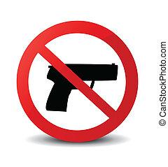 não, arma, marca