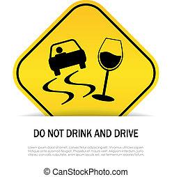 não, bebida, conduzir