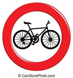 não, bicicleta, sinal