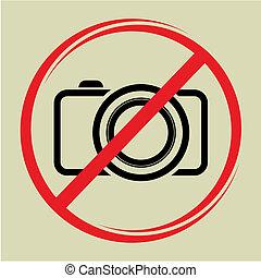 não, câmera, sinal