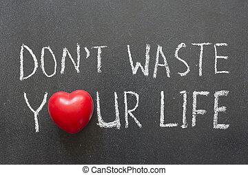 não, desperdício, vida