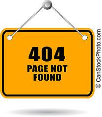 não, encontrado, 404, página, sinal