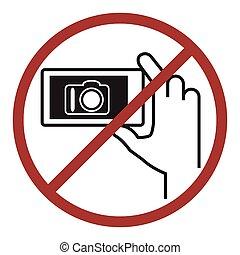 não, fotografia, icon.