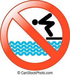não, mergulhar