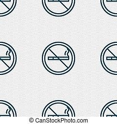 não, padrão, sinal., seamless, vetorial, fumar, geomã©´ricas, texture., ícone