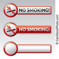 não, proibição, sinal, cobrança, fumar, bandeira