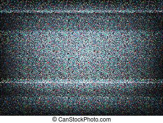 não, sinal, tv, illustration., scalable, vector., erro,...
