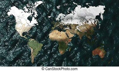 não, sol, zoom, austrália, mapa, 3d