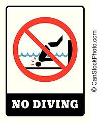 não, tábua, mergulhar