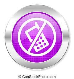 não, telefones, ícone