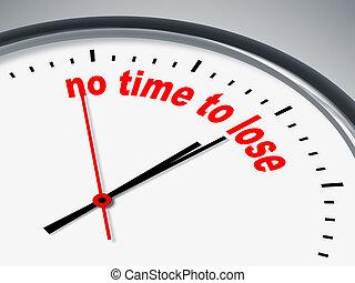 não, tempo, perder