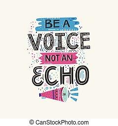 não, voz, eco