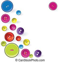 nähen, items., mehrfarbig
