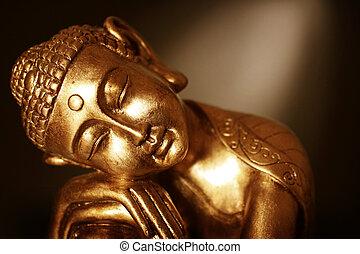 nära, buddha, uppe, staty