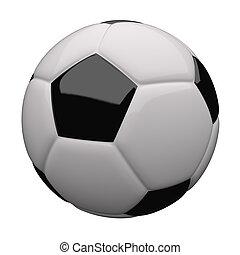 nära, fotboll, uppe