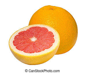nära, grapefrukt, uppe