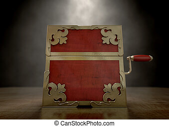 nära, gubben i lådan, antikvitet