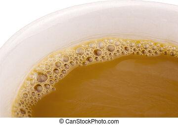 nära, kaffe, uppe, kopp
