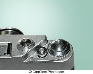 nära, kamera, gammal, uppe
