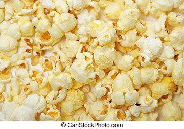 nära, popcorn, uppe