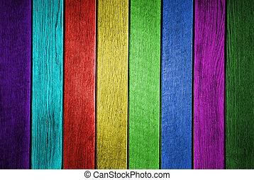 närbild, grunge, färgad, foto, struktur, planka