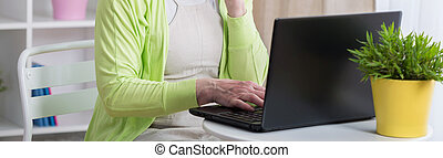 närbild, laptop
