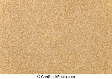 närbild, papp, struktur, papper, bakgrund, brun