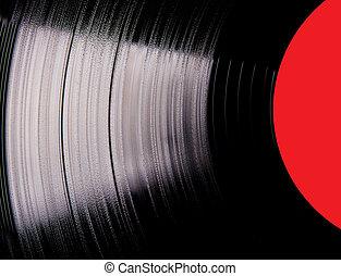 närbild, skiva, vinyl