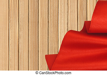 närbild, Trä,  över, Struktur, tyg, bakgrund, röd
