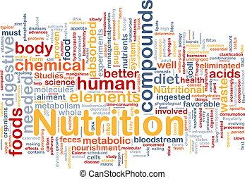 näring, hälsa, bakgrund, begrepp